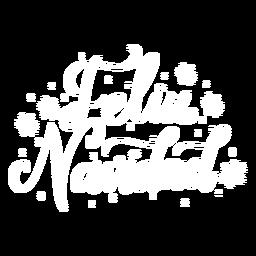 Feliz navidad lettering christmas