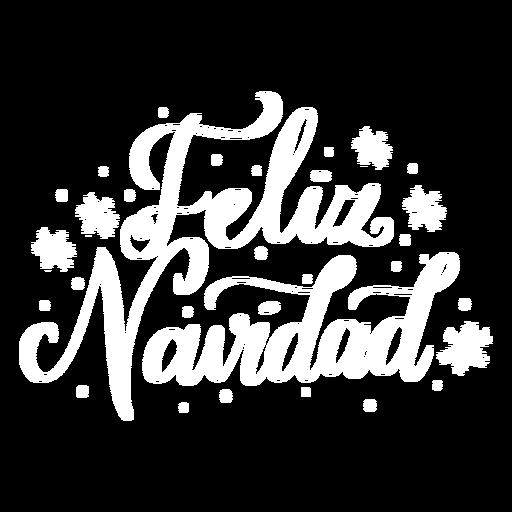Feliz navidad lettering christmas Transparent PNG