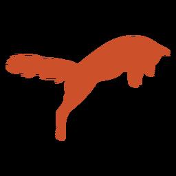 Silhueta de raposa fofa