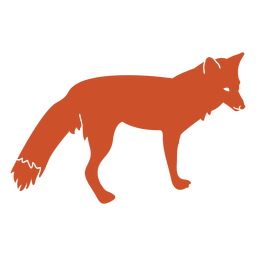 Fox silhouette side view