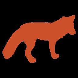 Vista lateral de silueta de zorro