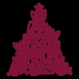 Árbol de navidad de bulldogs franceses