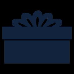 Lado azul da caixa de presente