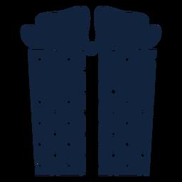 Gift box polka dots blue