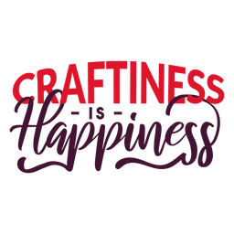 Happiness crafting lettering