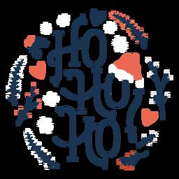 Ho ho ho christmas lettering