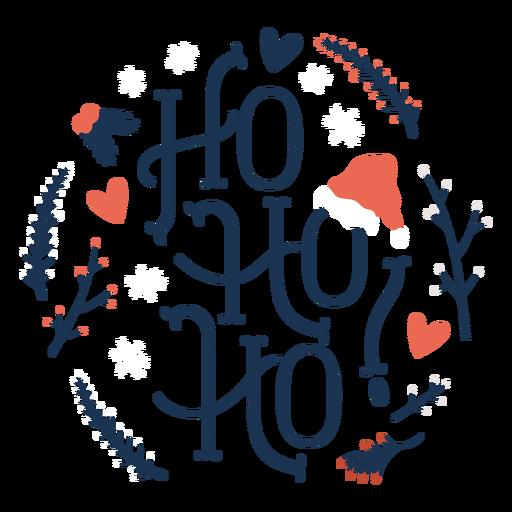 Letras de navidad ho ho ho Transparent PNG