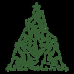 Árbol de navidad caballo
