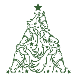 Horse christmas tree