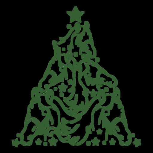 Árbol de navidad del caballo Transparent PNG