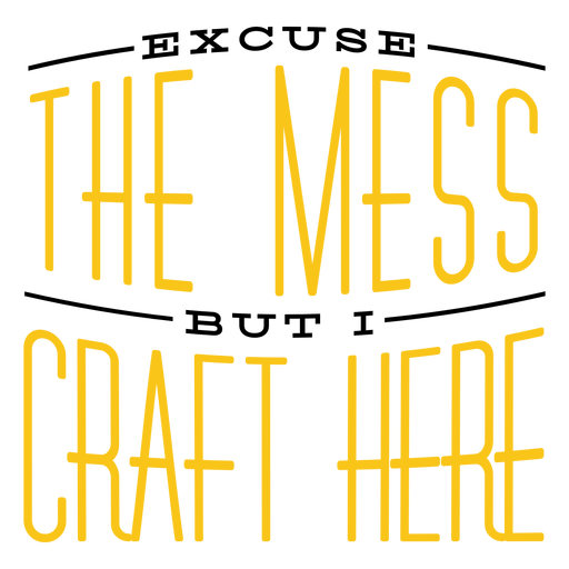 I craft here lettering