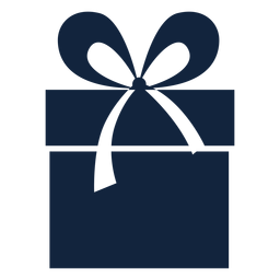 Large ribbon gift box blue