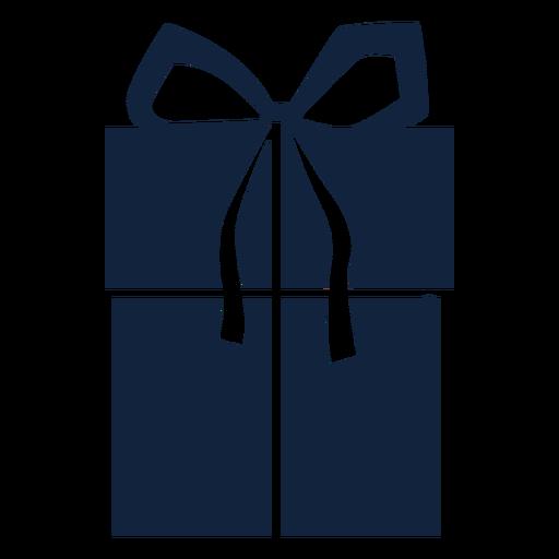 Large gift box blue Transparent PNG