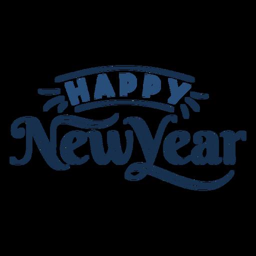 Feliz ano novo letras Transparent PNG