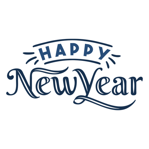 Lettering happy new year