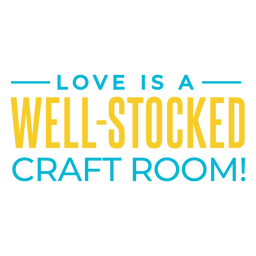 Love craft room lettering