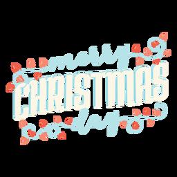 Merry christmas lettering lettering