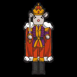 Personaje de cascanueces del rey ratón