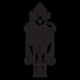 Traço de quebra-nozes rei de camundongo