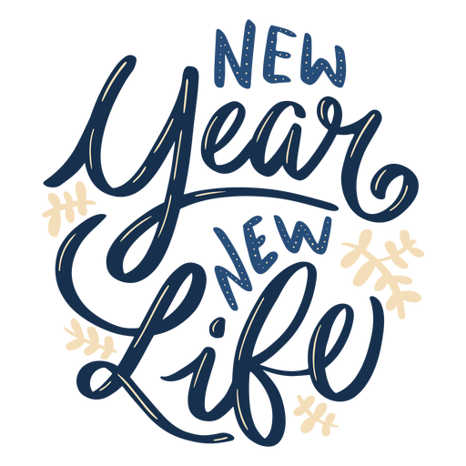 New year life lettering