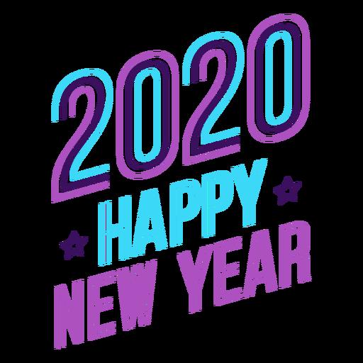 Emblema de letras de ano novo