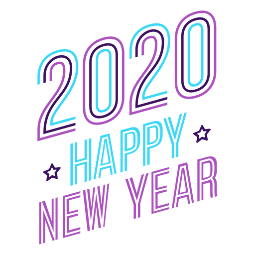 Newyear lettering badge