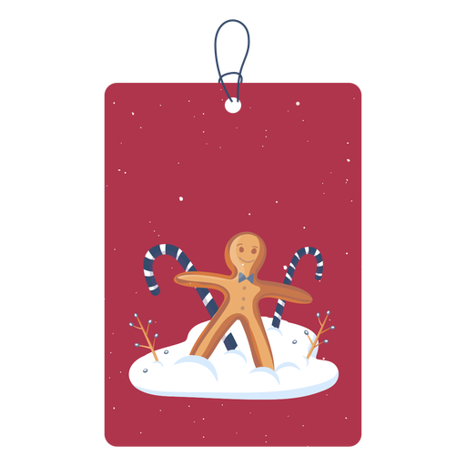Nice christmas tag Transparent PNG