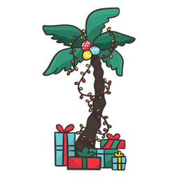 Palm tree with gifts