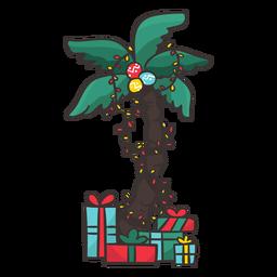 Palmera con regalos