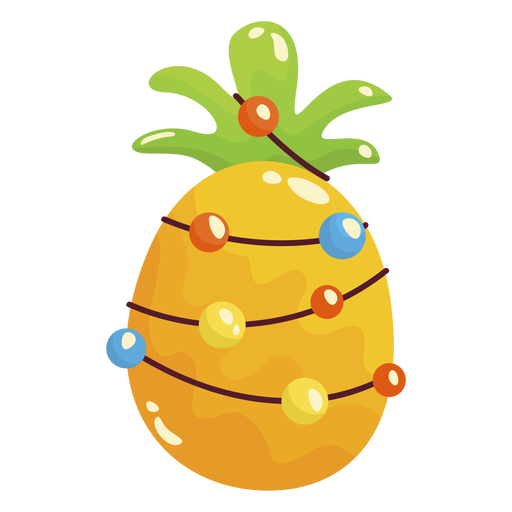 Pineapple christmas cool Transparent PNG