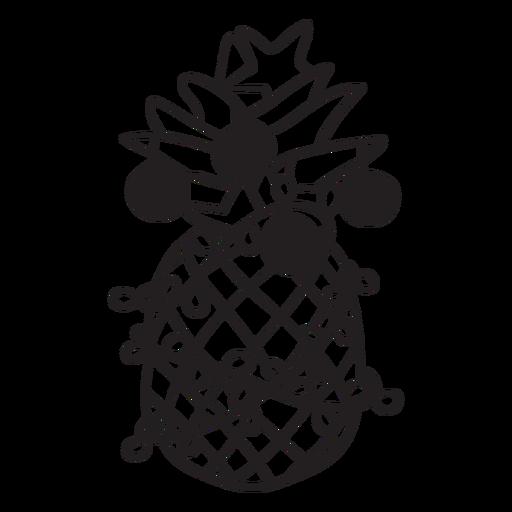 Curso de natal de abacaxi Transparent PNG