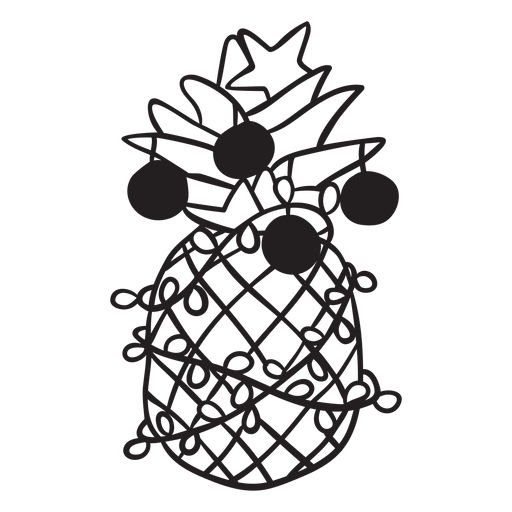 Pineapple christmas stroke Transparent PNG