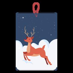 Reno Navidad Etiqueta Reno