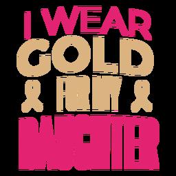 Ribbon cancer lettering childhood