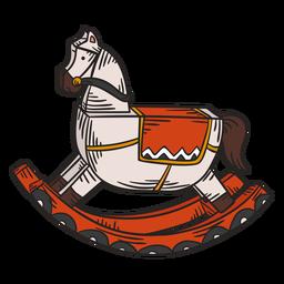 Juguete caballo mecedora