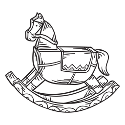 Curso de brinquedo de cavalo de balanço