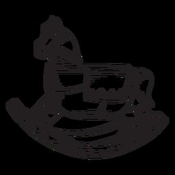 Pancada de brinquedo de cavalo de balanço