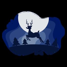 Rudolph reindeer papercut