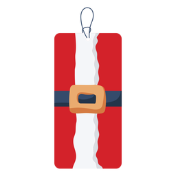 Etiqueta de natal cinto santa
