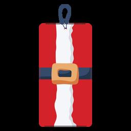 Etiqueta de navidad de cinturón de santa