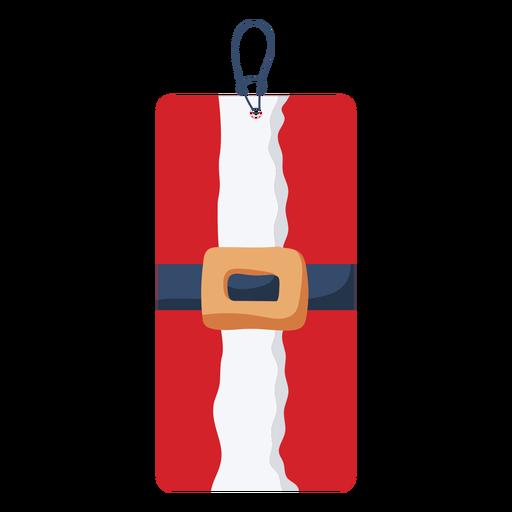 Santa Belt Christmas Tag Transparent Png Svg Vector File