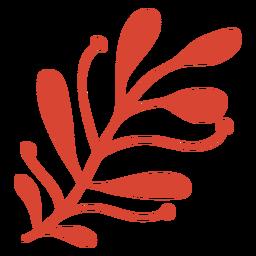 Escandinavo impresionante flora naranja