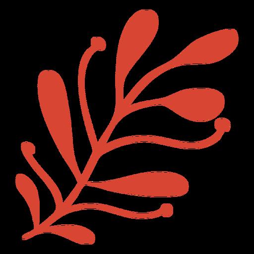 Scandinavian awesome flora orange Transparent PNG