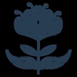 Impresionante planta escandinava azul