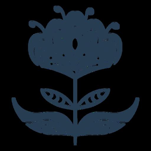 Scandinavian awesome plant blue Transparent PNG