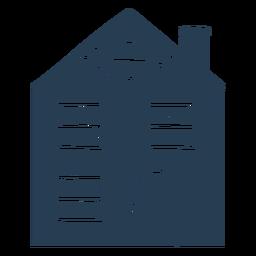 Casa azul escandinava