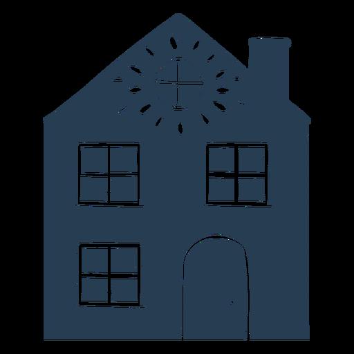 Scandinavian blue house Transparent PNG