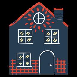 Casa colorida escandinava