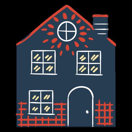 Casa escandinava colorida