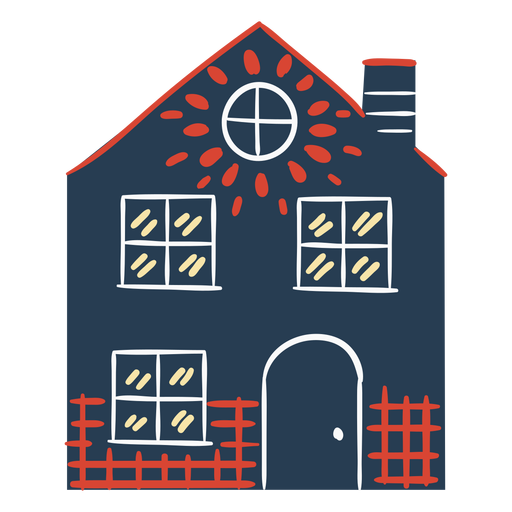 Scandinavian colorful house Transparent PNG